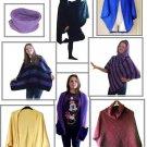 easy knit Poncho Shrug Ruana & Afghan knitting machine patterns on CD free post