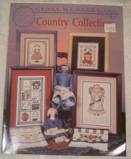 CROSS MY HEART COUNTRY CROSS STITCH BOOK *SHIPS FREE*