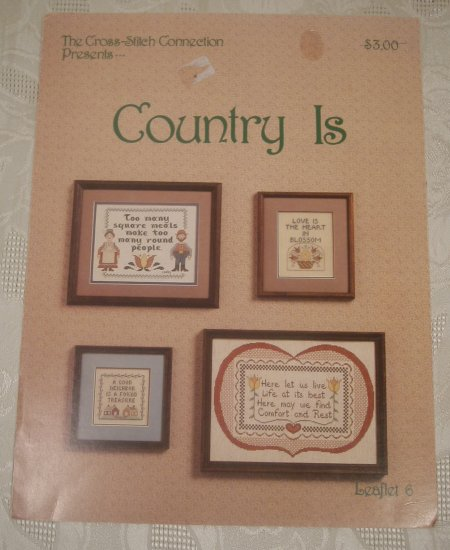 CROSS STITCH LEAFLET #6 COUNTRY IS *SHIPS FREE*