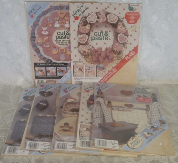 PLAID WOOD CUT-OUTS & PATTERNS KITS LOT OF 7 COUNTRY *SHIPS FREE*