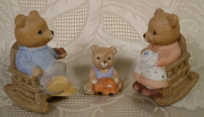 HOMCO BEARS AT HOME FIGURINES #1470 - 3PCS. *SHIPS FREE*