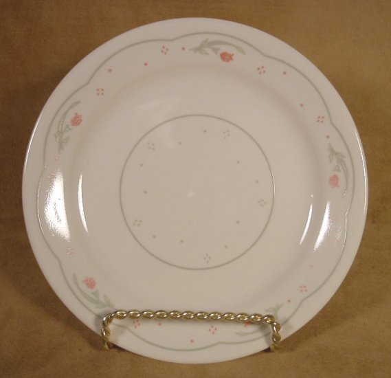 CORELLE CALICO ROSE DESSERT PLATES SET OF 4