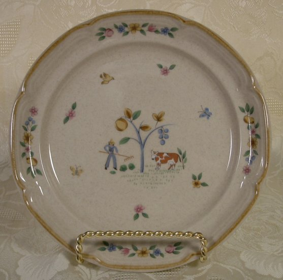 INTERNATIONAL CHINA HEARTLAND DESSERT PLATES SET OF 4