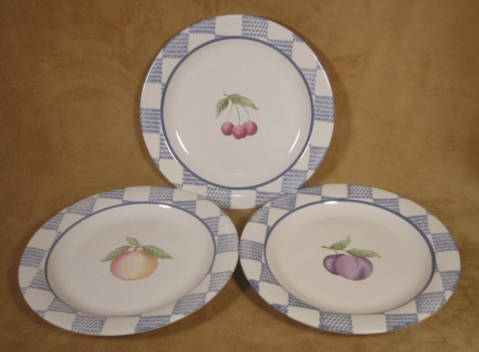 PFALTZGRAFF HOPSCOTCH  SALAD PLATES SET OF 3