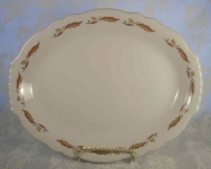 HOMER LAUGHLIN BEST CHINA AUTUMN LEAVES OVAL PLATTER