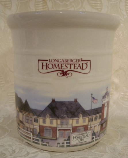LONGABERGER POTTERY LIMITED EDITION LG. HOMESTEAD CROCK U.S.A. *SHIPS FREE*