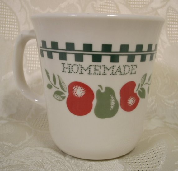 CORELLE FARM FRESH APPLES TAPERED MUGS SET OF 4