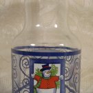 SNOWMAN DESIGN BEVERAGE JUICE MILK DECANTER W/LID