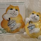 FITZ & FLOYD SPECIAL-TEAS CAT WITH BIRD BANK *NIB* 2003 *SHIPS FREE*
