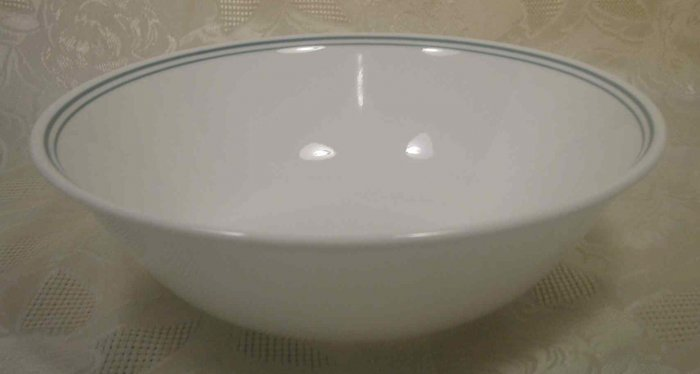 CORELLE ROSEMARIE GREEN STRIPED 1 QT. SERVING BOWL