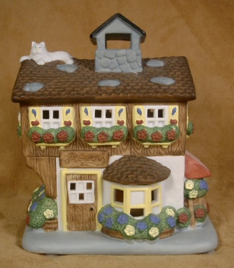 PARTYLITE FLOWER SHOP TEALIGHT HOUSE FLOWERS