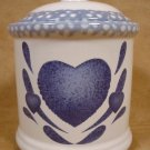 CORELLE BLUE HEARTS SM. STONEWARE CANISTER
