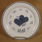 MARKET SQUARE BLUE HEARTS ROUND PLATTER CHOP PLATE