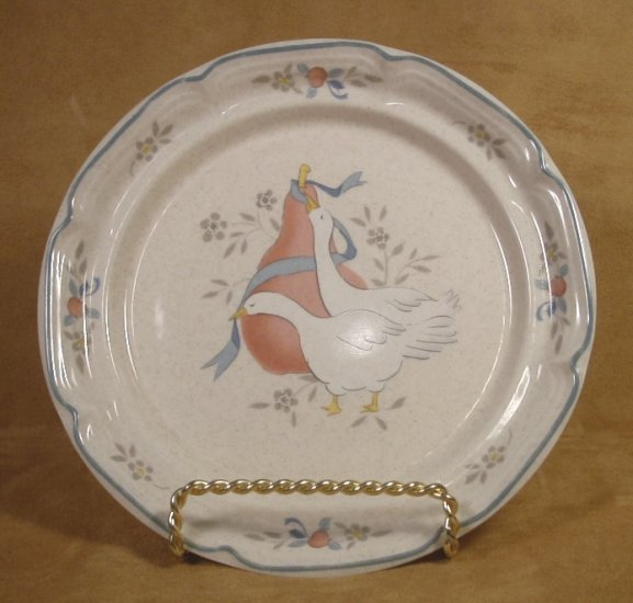 INTERNATIONAL CHINA MARMALADE GEESE DESSERT PLATES SET OF 4