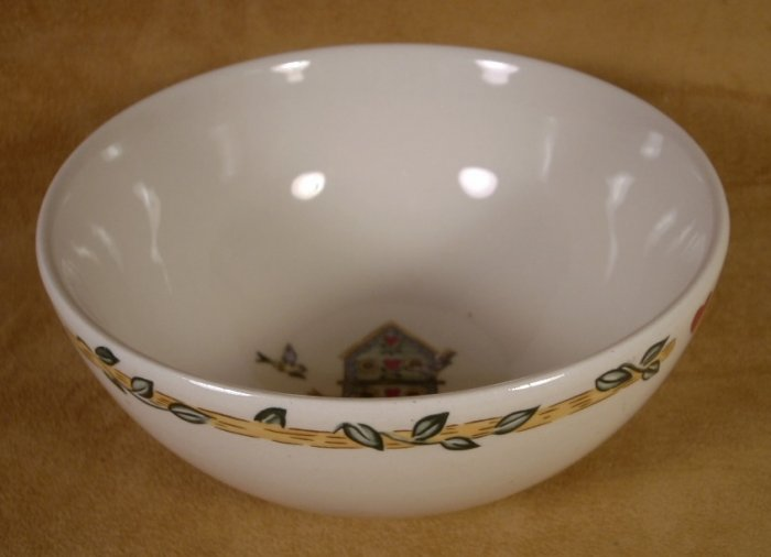 THOMSON POTTERY BIRDHOUSE SOUP CEREAL BOWLS SET OF 4