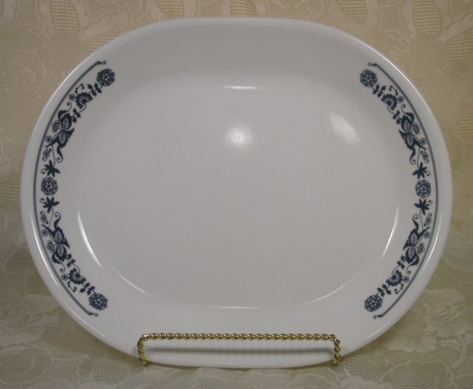 CORELLE OLD TOWN BLUE ONION OVAL SERVING PLATTER