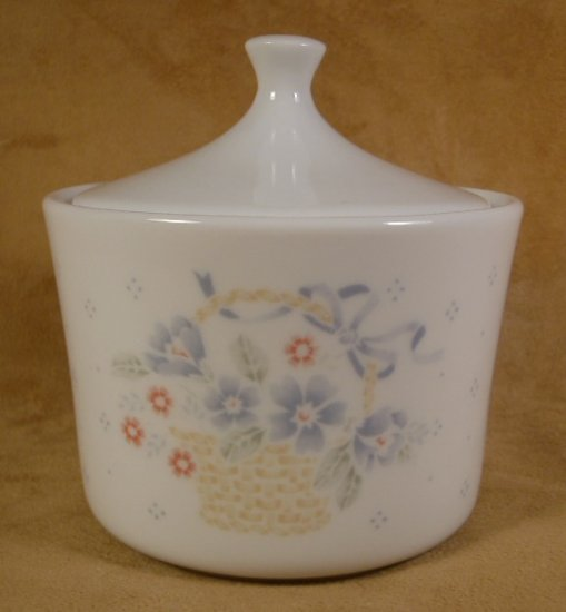 CORNING CORELLE COUNTRY CORNFLOWER SUGAR BOWL W/LID
