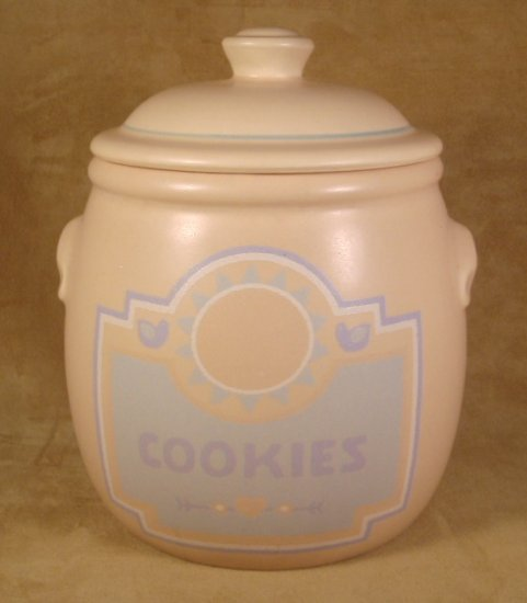 TREASURE CRAFT SOUTHWEST AZTEC COOKIE JAR W/LID