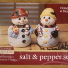 JAY IMPORTS SNOWMAN FAMILY SALT & PEPPER SET *NIB*