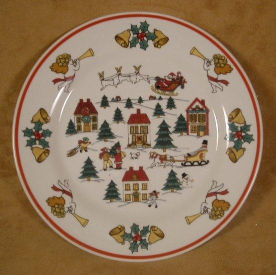 JAMESTOWN CHINA JOY OF CHRISTMAS DESSERT SALAD PLATES