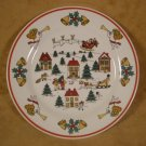 JAMESTOWN CHINA JOY OF CHRISTMAS DESSERT SALAD PLATES