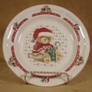 TIENSHAN CHRISTMAS COUNTRY BEAR SALAD PLATES *EC*