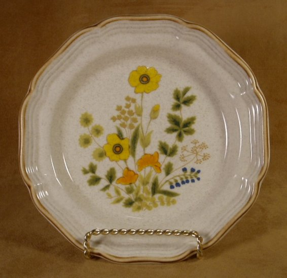 "MIKASA GARDEN CLUB FRESH FLORAL 8"" SALAD/DESSERT PLATES SET OF 4"
