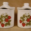 MCCOY STRAWBERRY FIELDS COUNTRY JAM JARS CONDIMENT SET