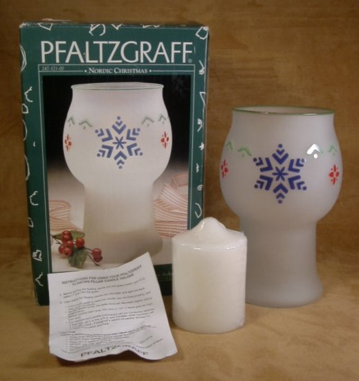PFALTZGRAFF NORDIC CHRISTMAS FLOATING CANDLE JAR *MIB