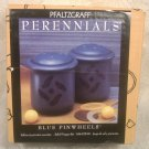 PFALTZGRAFF PERENNIALS BLUE PINWHEELS SALT PEPPER 2 SETS