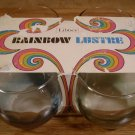 VINTAGE LIBBEY RAINBOW LUSTRE OLD FASHION GLASSES MIB
