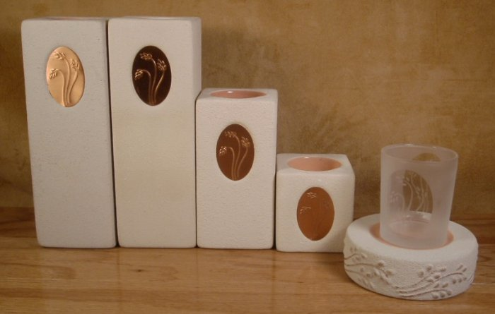 PARTYLITE MEDALLION VOTIVE TEALIGHT HOLDERS 6 PC. SET
