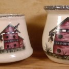 HOME & GARDEN PARTY BIRDHOUSE SM. SPOON JAR & SM. SHADE