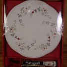 PFALTZGRAFF WINTERBERRY HOLLY CHEESE TRAY W/SLICER *NIB*