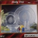 ARCOROC CHRISTMAS HOLIDAY HOLLY TREE BOWLS *NEW