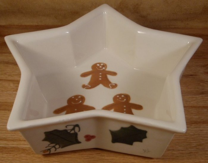 HARTSTONE GINGER TRADITIONS STAR DISH U.S.A. 1991