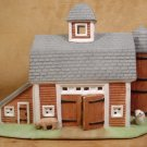 PARTYLITE PORCELAIN TEALIGHT BARN W/FARM ANIMALS