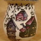 HOME & GARDEN PARTY BIRDHOUSE MED. SPOON JAR CROCK USA