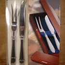 HAMPTON@HOME 18/0 STAINLESS CARVING SET W/STORAGE CHEST