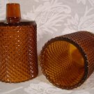 DECORAMA INC. AMBER MINI-DIAMOND VOTIVE CUPS HOLDERS PEGLITES *EUC*