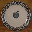 TIENSHAN FOLK CRAFT APPLE GREEN SPONGEWARE DINNER PLATES - 3