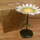 FIGI GRAPHICS METAL DAISY PILLAR CANDLE HOLDER *NIB*