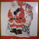 "FITZ & FLOYD LARGE 17"" HOLIDAY SANTA CHIP & DIP *NEW IN BOX*"
