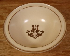 PFALTZGRAFF VILLAGE YELLOW & BROWN SOUP/CEREAL BOWLS -4