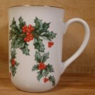 LEFTON CHINA CHRISTMAS HOLIDAY HOLLY  BERRY MUG #10418