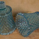 HOME INTERIOR BLUE DIAMONDLITE VOTIVE HOLDERS PEGLITES