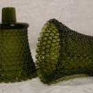 HOME INTERIORS GREEN HOBNAIL VOTIVE HOLDERS PEGLITES -2
