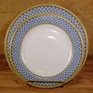 SAKURA DEBBIE MUMM GARDEN VIGNETTE PLATTER/CHOP PLATE & 1 DINNER PLATE