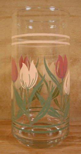 CORELLE TULIP BOUQUET? 16 OZ. COOLER GLASSES SET OF 4