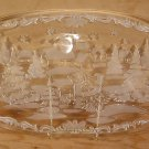 "MIKASA ""CHRISTMAS CAROL"" OVAL HOSTESS PLATTER *EUC*"